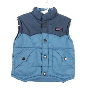 Patagonia puffer vest color block button up